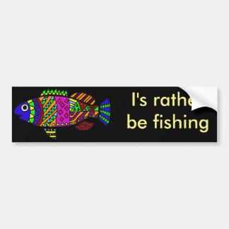 Arte colorida dos peixes do divertimento artístico adesivo para carro