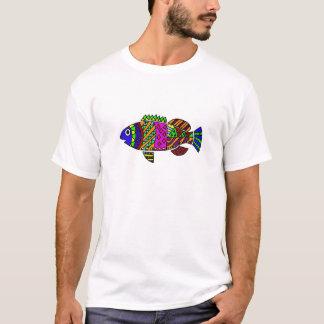 Arte colorida dos peixes do divertimento artístico camiseta