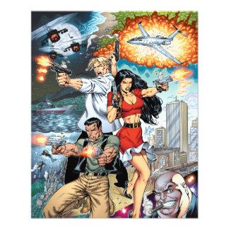 arte cómica da ação do guisado de B stard pelo Al Panfleto Personalizado