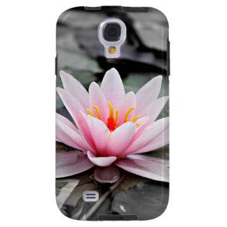 Arte cor-de-rosa bonita do zen de Waterlily da Capa Para Galaxy S4