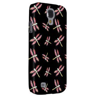 Arte cor-de-rosa de dança da libélula galaxy s4 cases