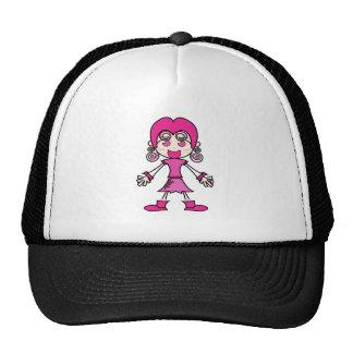 Arte cor-de-rosa dos desenhos animados da menina bones