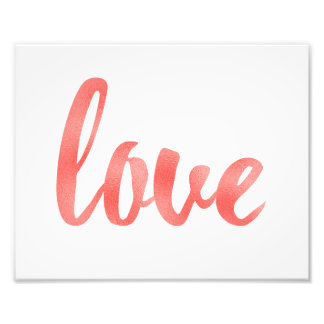 Arte coral da parede, amor, folha impressão de foto