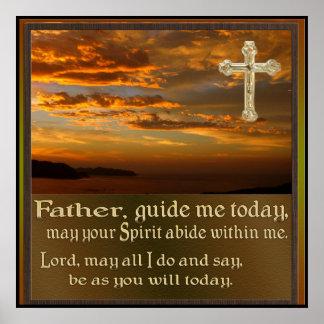Arte cristã do poster da oração