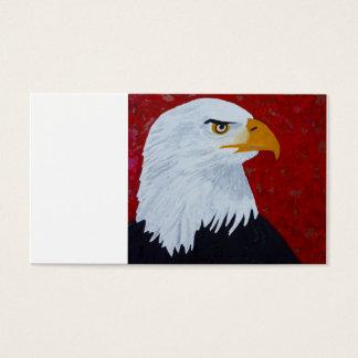 Arte da águia americana cartão de visitas