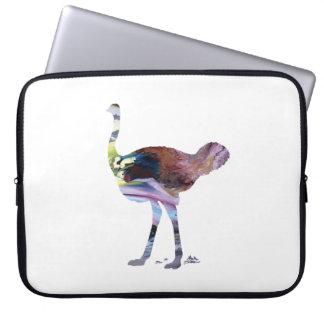 Arte da avestruz capa para computador