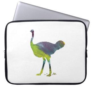 Arte da avestruz sleeve para notebook