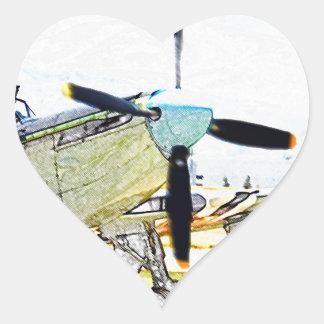 Arte da aviação da rendição do vaga-lume AS-6 Adesivo Coração