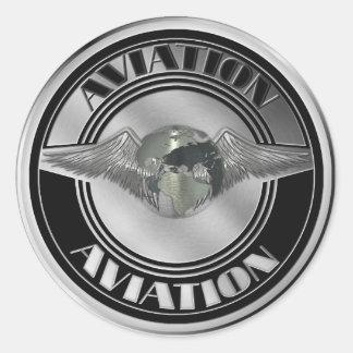 Arte da aviação do vintage adesivos redondos