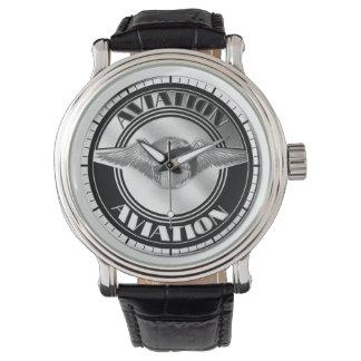 Arte da aviação do vintage relógios de pulso