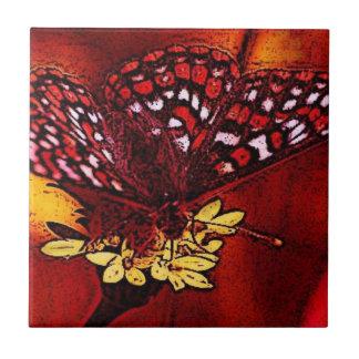 Arte da borboleta azulejo de cerâmica