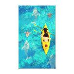 """Arte da canoa do caiaque do oceano """"segredos meio impressão de canvas envolvidas"""