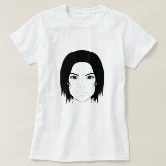 Arte da cara da mulher camiseta