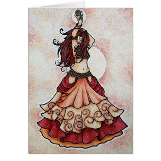 Arte da dança do ventre do Ember Cartao