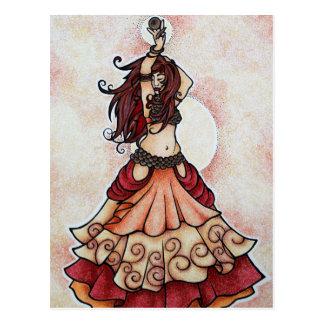 Arte da dança do ventre do Ember Cartoes Postais