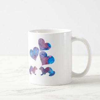 Arte da doninha caneca de café