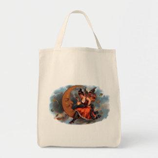 Arte da etiqueta do charuto do vintage, fada do sacola tote de mercado
