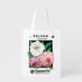 Arte da etiqueta do pacote da semente do vintage, sacola ecológica