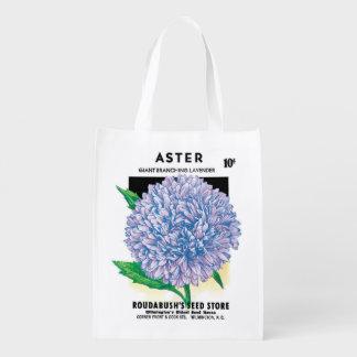 Arte da etiqueta do pacote da semente do vintage, sacolas reusáveis