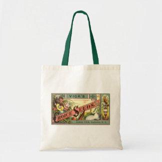 Arte da etiqueta do pacote das sementes da escolha bolsas para compras