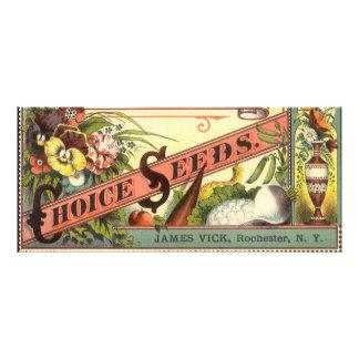 Arte da etiqueta do pacote das sementes do 10.16 x 22.86cm panfleto
