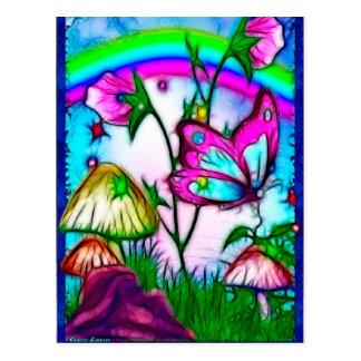 Arte da fantasia das rarezas cartão postal