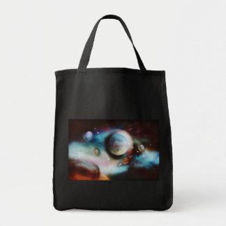 Arte da fantasia do espaço sacola tote de mercado