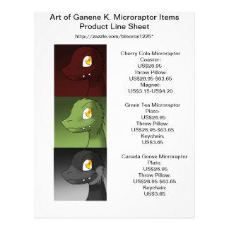 Arte da folha 1 da linha de produtos de Ganene K. Panfleto