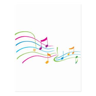 Arte da música cartões postais