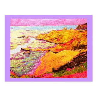 arte da música da praia cartão postal