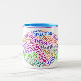 Arte da palavra da inspiração na caneca de café
