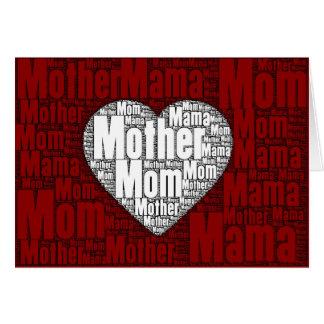 Arte da palavra: Namorados para a mãe Cartão