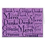 Arte da palavra: Obrigado em multi línguas - Cartoes