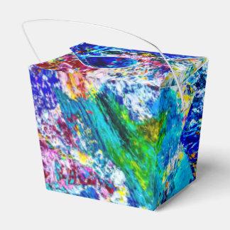 Arte da paleta de cores engraçada caixinha de lembrancinhas para festas