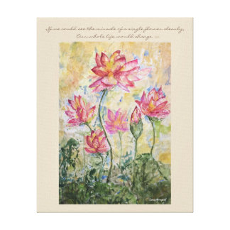 Arte da parede das canvas da aguarela de Lotus das
