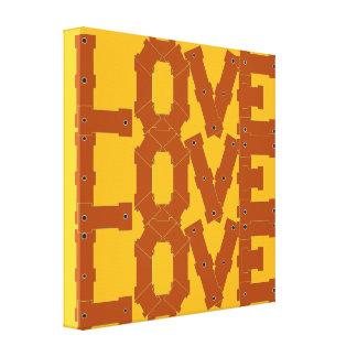 Arte da parede das canvas do amor do amor do amor impressão em tela