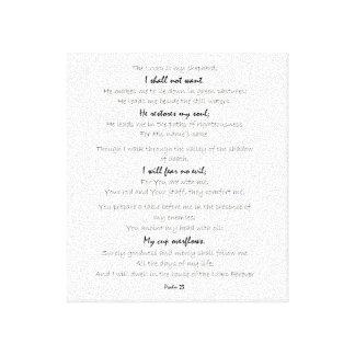 arte da parede das canvas do salmo 23, arte da