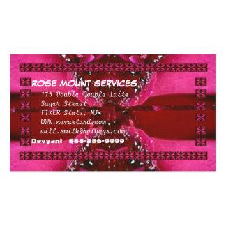 Arte da pétala de PinkRose RedRose - mude seu text Modelo Cartão De Visita