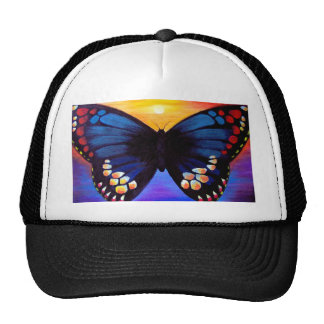 Arte da pintura da borboleta - multi boné