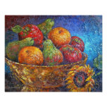 Arte da pintura da cesta de fruta - multi poster