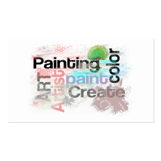 Arte da pintura do artista do cartão de visita da