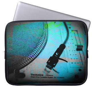 arte da plataforma giratória das técnicas de bolsa e capa para computadore