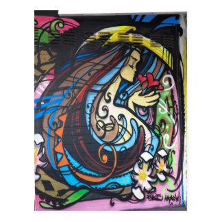 Arte da rua de Amsterdão Cartão Postal