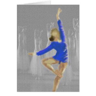 Arte da volta do balé cartão