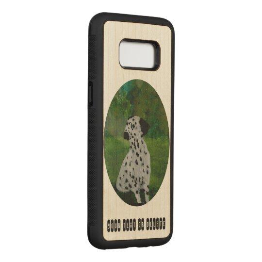 Arte Dalmatian do cão Capa Carved Para Samsung Galaxy S8
