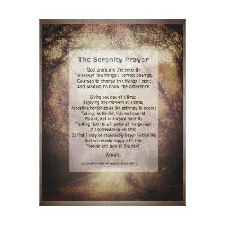 Arte das canvas da oração da serenidade com
