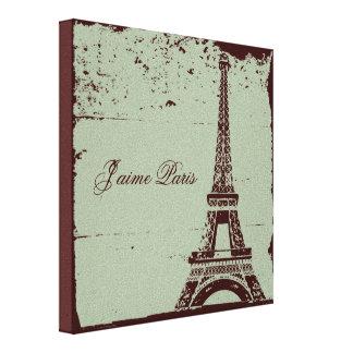 Arte das canvas da torre Eiffel Impressão De Canvas Esticadas