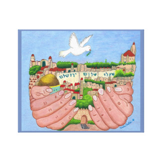Arte das canvas de Jerusalem