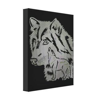 Arte das canvas do lobo impressão em tela canvas