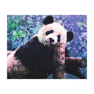 Arte das canvas - panda doce impressão de canvas esticada